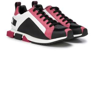 Dolce & Gabbana colour blocked low top sneakers