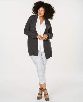 Charter Club Plus Size Pure Cashmere Cardigan Sweater, Created for Macy's