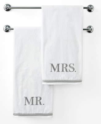 """Avanti Bath Towels, Mr. or Mrs. 27"""" x 50"""" Bath Towel Bedding"""