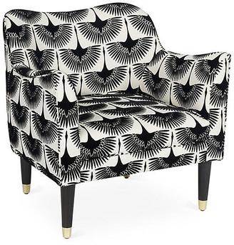Kim Salmela Alexander Accent Chair - Black Cranes