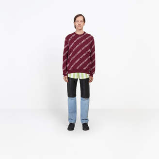 Balenciaga Regular fit sweater with allover The Power of Dreams jacquard knit