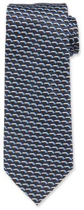 Giorgio Armani 3D Dash Silk Tie, Blue