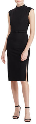 Lauren Ralph Lauren Mockneck Sheath Dress $135 thestylecure.com