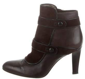 Sergio Rossi Leather Ankle Boots brown Leather Ankle Boots