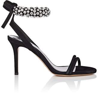 Isabel Marant Women's Alrin Crystal-Embellished Suede Sandals