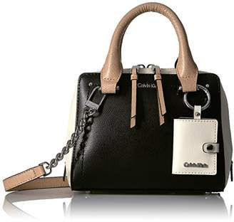 Calvin Klein womens Boxy Mercury Leather Crossbody