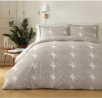 Marimekko Mehilaispesa Metallic Taupe Cotton 3-Pc. King Duvet Cover Set Bedding