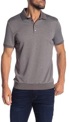 Vince Camuto Heathered Button Down Short Sleeve Polo