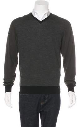 Lanvin Silk-Trimmed Wool Sweater