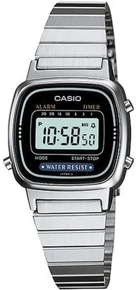 Casio Women's Digital Alarm Stainless Steel Watch
