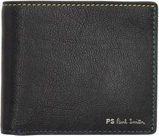 6e460fc709e Paul Smith Black Den Stitch Billfold Wallet