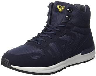 Armani Jeans Men's Hiking Sneaker Hi-Top Trainers