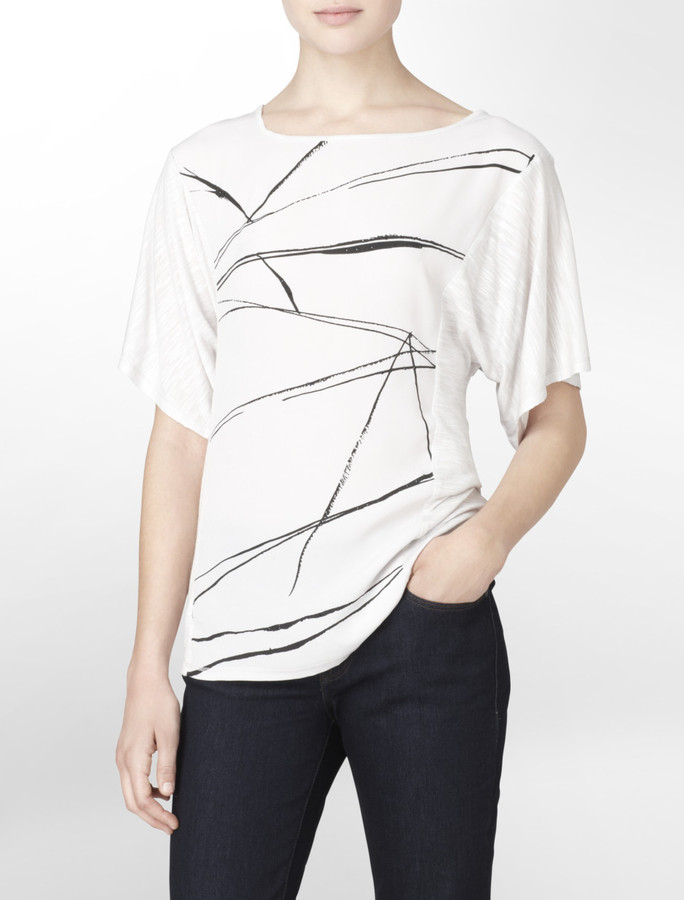 Calvin Klein Jeans Abstract Design Striped T-Shirt