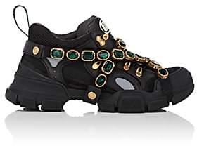 Gucci Men's Jeweled-Strap Sneakers - Black