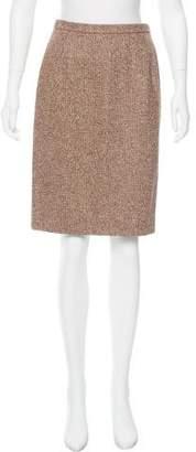 Oscar de la Renta Camel And Wool-Blend Skirt