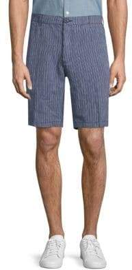 Saks Fifth Avenue Striped Linen Shorts
