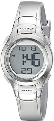 Armitron Sport Women's 45/7012SIL Digital Chronograph -Tone Resin Strap Watch