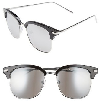 Women's A.j. Morgan Ebbets 53Mm Retro Sunglasses - Black/ Mirror $24 thestylecure.com