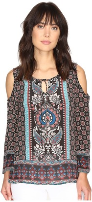 Tolani Claire Cold Shoulder Blouse $184 thestylecure.com
