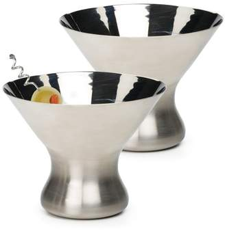 Three Posts Cleckheat 8 oz. Stainless Steel Cocktail Glass