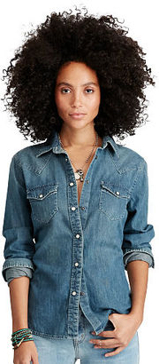 Ralph Lauren Denim & Supply Denim Cowgirl Shirt $98 thestylecure.com