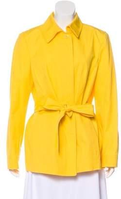 Ellen Tracy Belted Long Sleeve Jacket