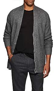 John Varvatos Men's Shawl-Collar Cashmere-Silk Cardigan - Gray
