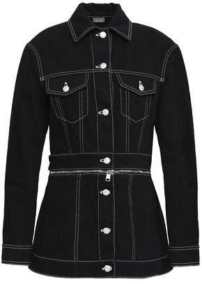Alexander McQueen Zip-Embellished Cotton-Denim Jacket