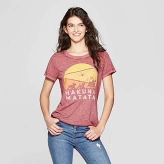 The Lion King Women's The Lion King Hakuna Matata Short Sleeve T-Shirt - (Juniors') - Burgundy
