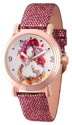 Disney Women's Princess Belle Rosegold Vintage Alloy Watch - Purple