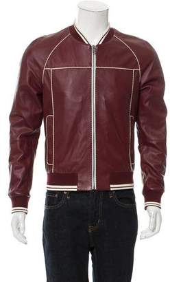 Dolce & Gabbana Leather Bomber Jacket w/ Tags