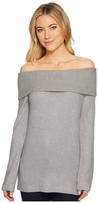 Three Dots Corey Off Shoulder Sweater Women's Sweater