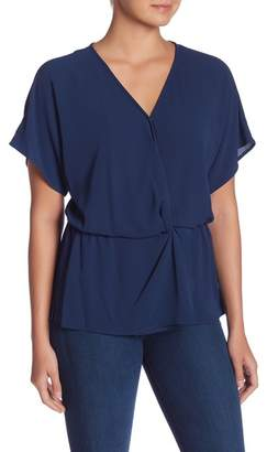 Vince Camuto Drop Shoulder Mock Wrap Blouse