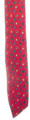 Hermà ̈s Silk Masked Horse Print Tie red Hermà ̈s Silk Masked Horse Print Tie