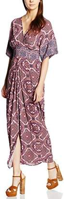 Closet Women's Paisley Wrap Tie Back Dress,8