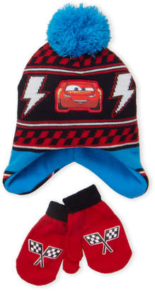 39a4e269aace6 Cars Toddler Boys) Two-Piece Character Hat   Mittens Set