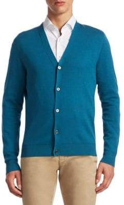 Saks Fifth Avenue COLLECTION Tech Silk& Cashmere Cardigan