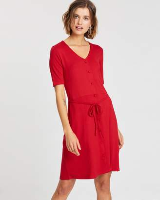 Dorothy Perkins Button Fit-and-Flare Dress