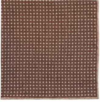 Paolo Albizzati Men's Dotted & Checked Wool-Cotton Pocket Square