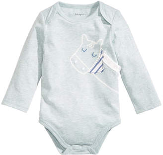 First Impressions Baby Boys Horse-Print Bodysuit, Created for Macy's