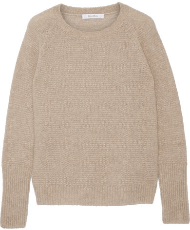 Max MaraMax Mara - Orbita Cashmere And Silk-blend Sweater - Mushroom