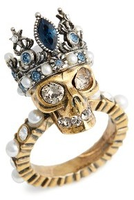Women's Alexander Mcqueen Skull Queen Ring $395 thestylecure.com