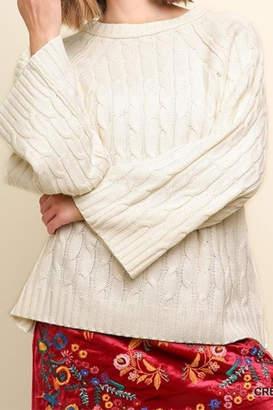 Umgee USA Cream Knit Sweater