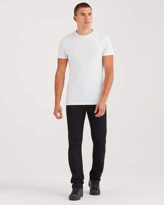 7 For All Mankind Luxe Sport Slimmy Clean Pocket in Black