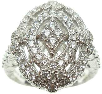 Judith Ripka Sterling Diamonique Openwork Ring