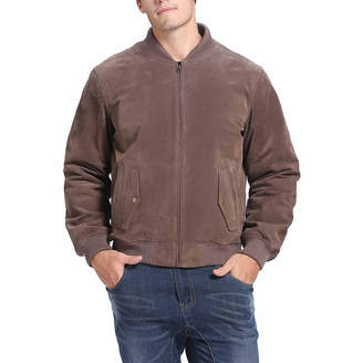 Asstd National Brand Wallace Suede Bomber Jacket Tall