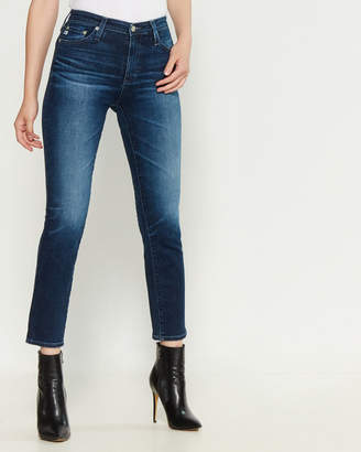 AG Adriano Goldschmied Ocean Tropic Isabelle High-Rise Straight Crop Jeans
