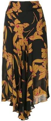 A.L.C. floral print midi skirt