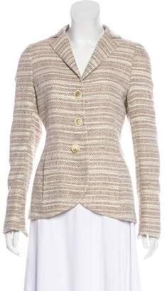 Akris Striped Silk Blazer