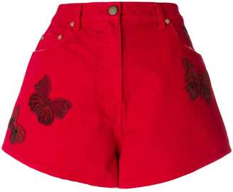 Valentino beaded butterfly denim shorts